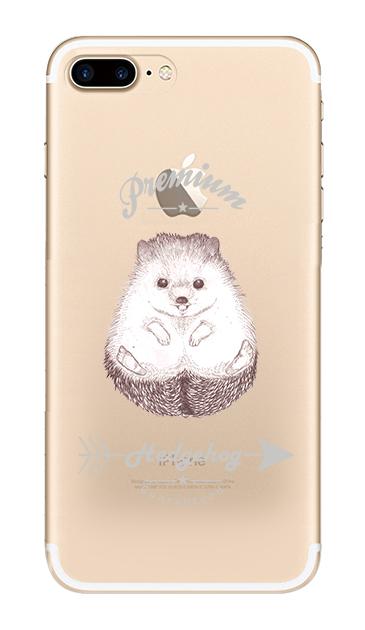 iPhone7 Plusのクリア(透明)ケース、プレミアムハリネズミ【スマホケース】
