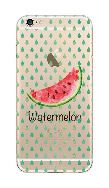 iPhone6sのクリア(透明)ケース、watermelon【スマホケース】
