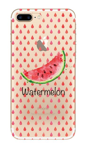 iPhone7 Plusのクリア(透明)ケース、watermelon【スマホケース】