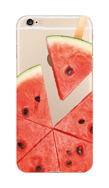 iPhone6sのクリア(透明)ケース、スイカバー【スマホケース】