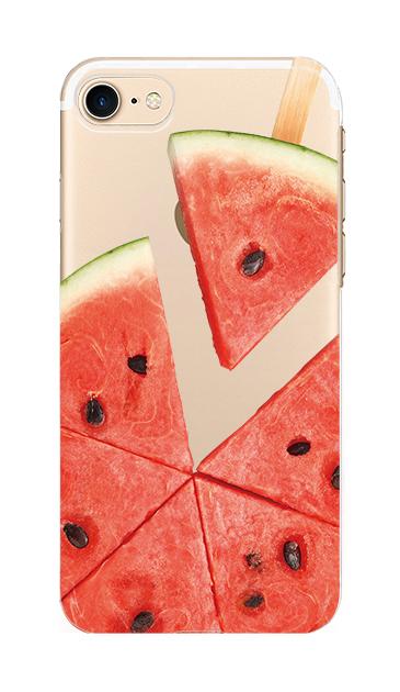 iPhone7のクリア(透明)ケース、スイカバー【スマホケース】