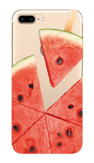 iPhone7 Plusのクリア(透明)ケース、スイカバー【スマホケース】