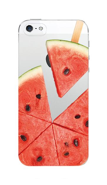 iPhoneSEのクリア(透明)ケース、スイカバー【スマホケース】