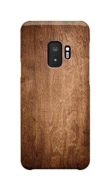 Galaxy S9のケース、ブラウンウッド【スマホケース】