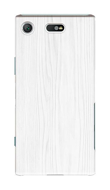 Xperia XZ1 Compactのケース、ホワイトウッド【スマホケース】