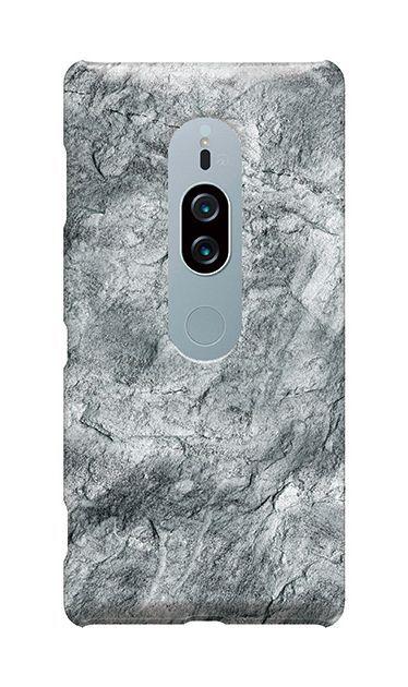 Xperia XZ2 Premiumのケース、グレーマーブル【スマホケース】