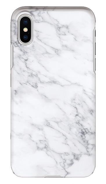 iPhoneXSのケース、ホワイトマーブル【スマホケース】