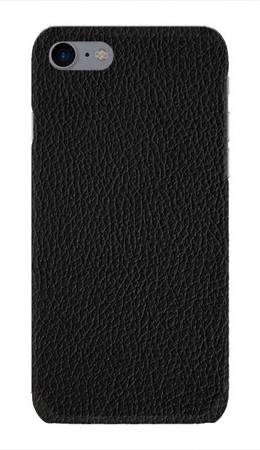 iPhone7のハードケース、ブラックレザー【スマホケース】