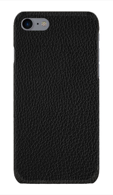 iPhone8のハードケース、ブラックレザー【スマホケース】