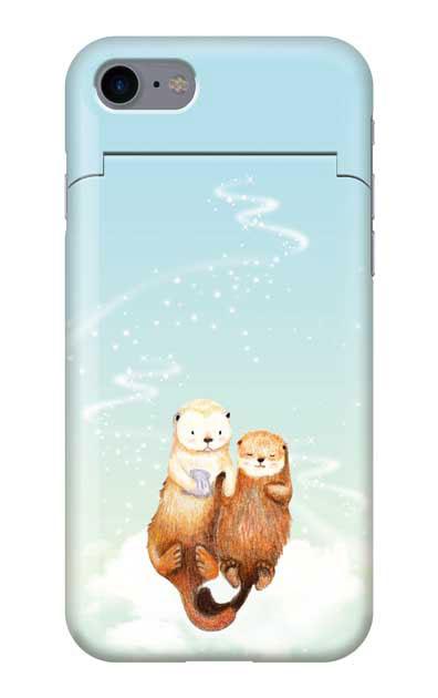 iPhone7のケース、天の川のラッコ【スマホケース】