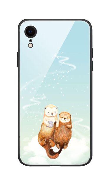 iPhoneXRのケース、天の川のラッコ【スマホケース】