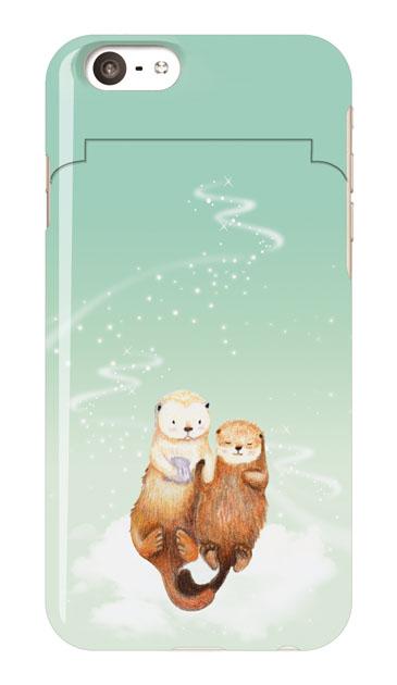 iPhone6sのミラー付きケース、天の川のラッコ【スマホケース】