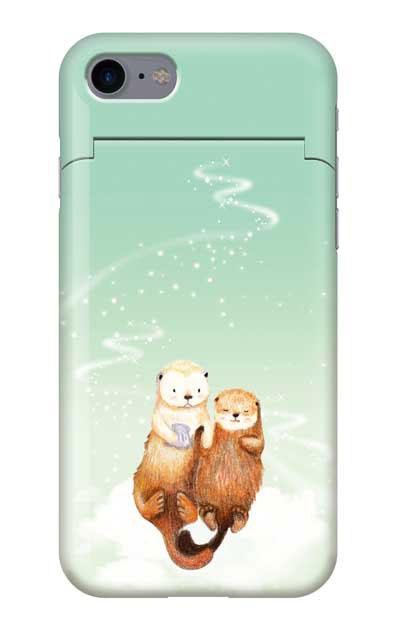 iPhone7のミラー付きケース、天の川のラッコ【スマホケース】