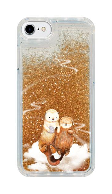 iPhone6のグリッターケース、天の川のラッコ【スマホケース】