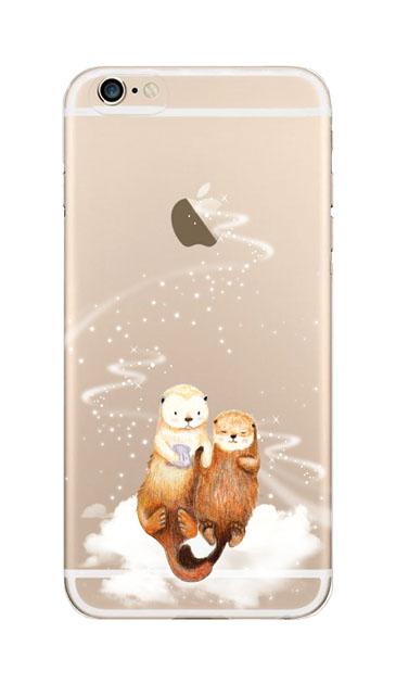 iPhone6sのクリア(透明)ケース、天の川のラッコ【スマホケース】
