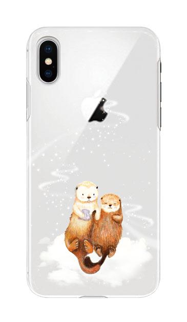 iPhoneXSのケース、天の川のラッコ【スマホケース】