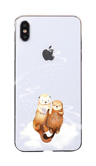 iPhoneXS Maxのケース、天の川のラッコ【スマホケース】
