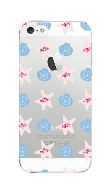 iPhoneSEのクリア(透明)ケース、Cute otter【スマホケース】
