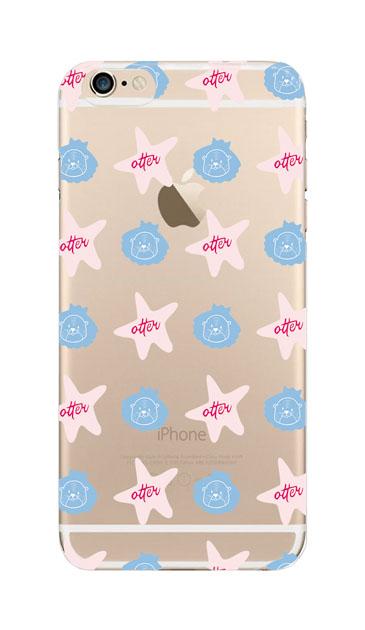 iPhone6sのクリア(透明)ケース、Cute otter【スマホケース】