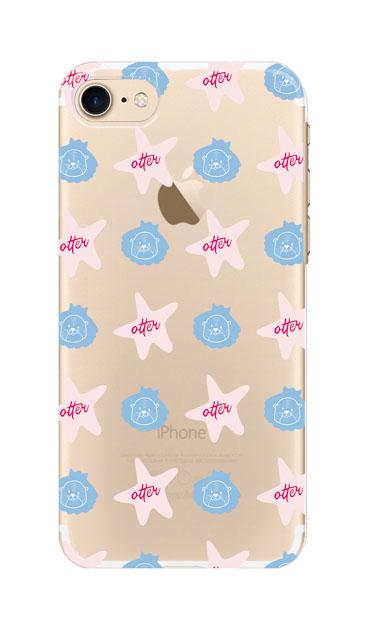 iPhone8のクリア(透明)ケース、Cute otter【スマホケース】