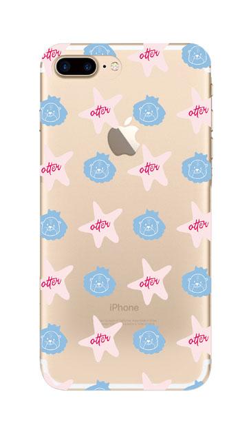 iPhone7 Plusのクリア(透明)ケース、Cute otter【スマホケース】