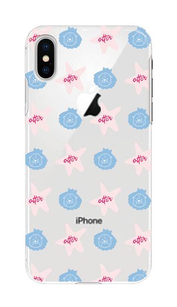 iPhoneXSのケース、Cute otter【スマホケース】