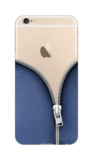 iPhone6sのクリア(透明)ケース、カジュアルなジッパー【スマホケース】