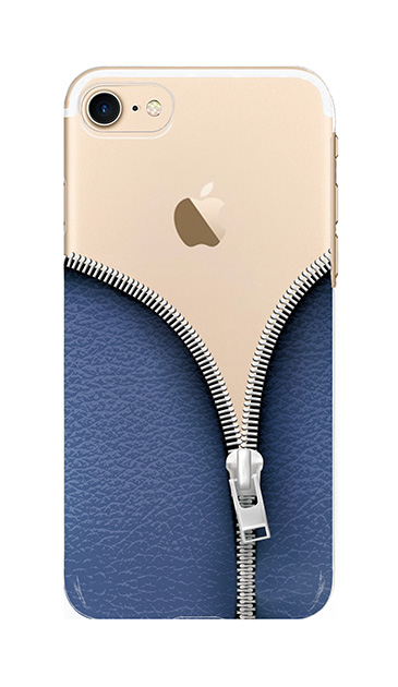 iPhone8のケース、カジュアルなジッパー【スマホケース】