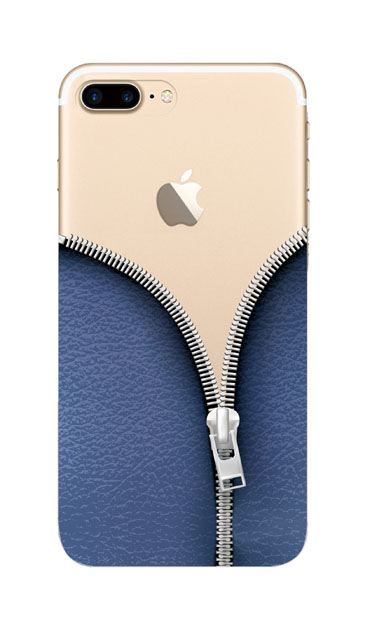 iPhone8 Plusのケース、カジュアルなジッパー【スマホケース】