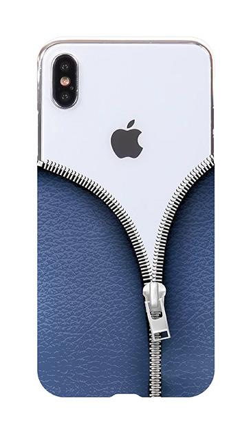 iPhoneXS Maxのケース、カジュアルなジッパー【スマホケース】