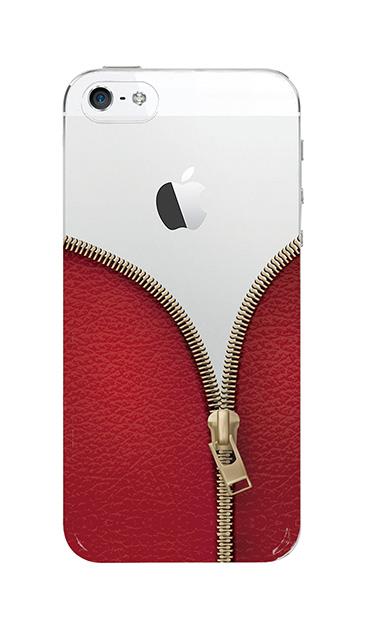 iPhoneSEのケース、カジュアルなジッパー【スマホケース】