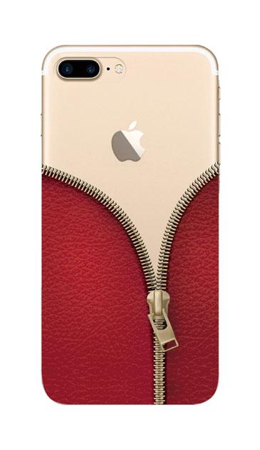iPhone7 Plusのクリア(透明)ケース、カジュアルなジッパー【スマホケース】