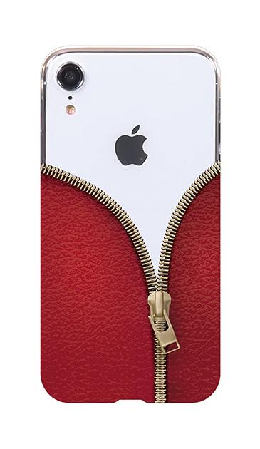 iPhoneXRのケース、カジュアルなジッパー【スマホケース】