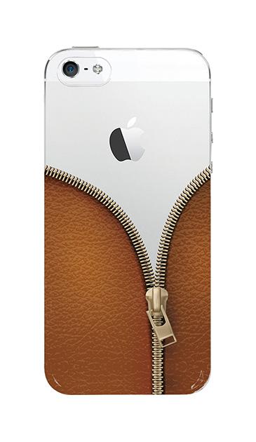 iPhoneSEのクリア(透明)ケース、カジュアルなジッパー【スマホケース】