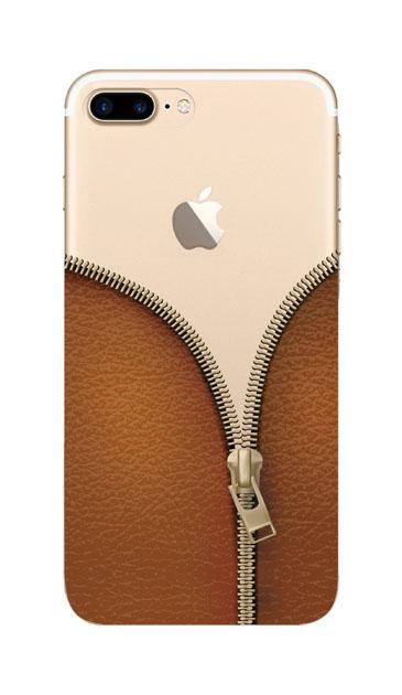 iPhone7 Plusのケース、カジュアルなジッパー【スマホケース】