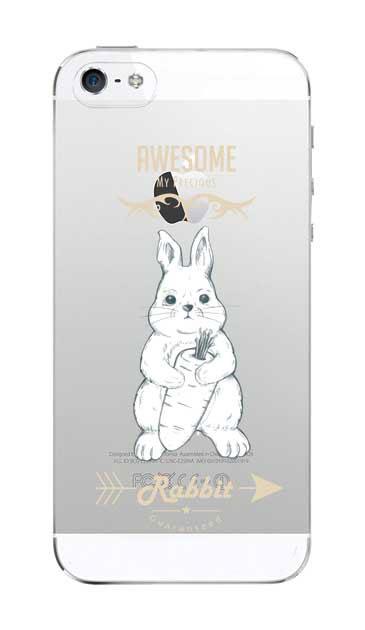 iPhoneSEのクリア(透明)ケース、Awesome Rabbit【スマホケース】