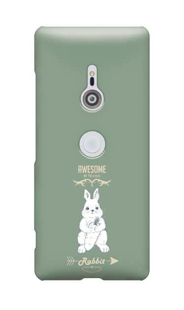 Xperia XZ3のケース、Awesome Rabbit【スマホケース】