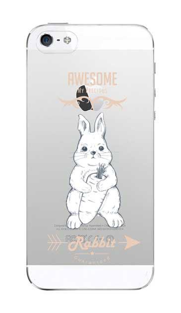 iPhone5Sのクリア(透明)ケース、Awesome Rabbit【スマホケース】