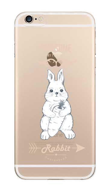 iPhone6sのクリア(透明)ケース、Awesome Rabbit【スマホケース】