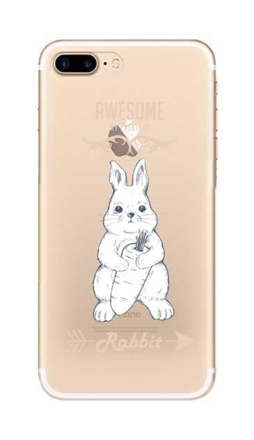 iPhone7 Plusのクリア(透明)ケース、Awesome Rabbit【スマホケース】