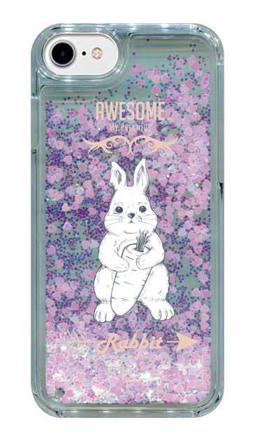 iPhone7のグリッターケース、Awesome Rabbit【スマホケース】