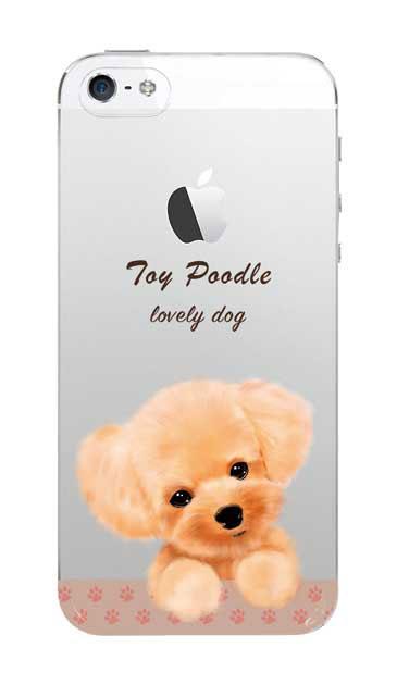 iPhone5Sのクリア(透明)ケース、ラブリートイプードル【スマホケース】