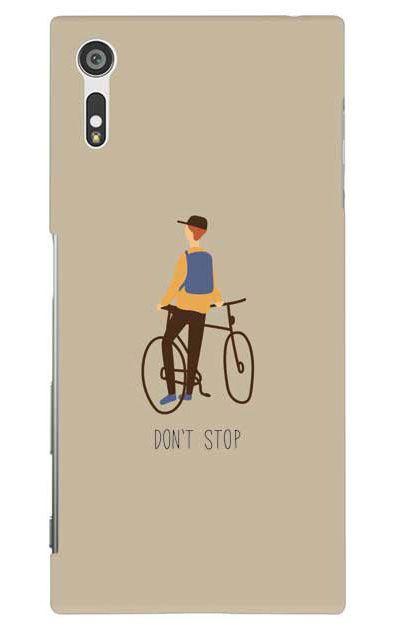 Xperia XZのケース、Don't stop【スマホケース】