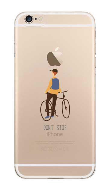 iPhone6sのクリア(透明)ケース、Don't stop【スマホケース】
