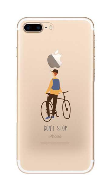 iPhone7 Plusのクリア(透明)ケース、Don't stop【スマホケース】