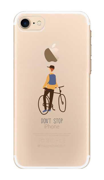 iPhone8のクリア(透明)ケース、Don't stop【スマホケース】