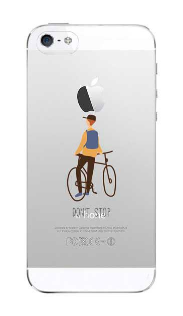 iPhoneSEのクリア(透明)ケース、Don't stop【スマホケース】