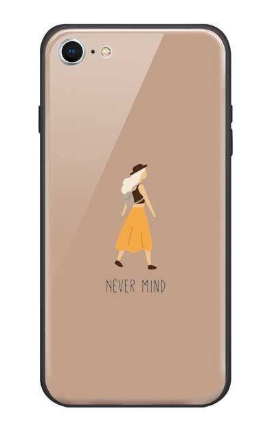 iPhone8のガラスケース、Never Mind【スマホケース】