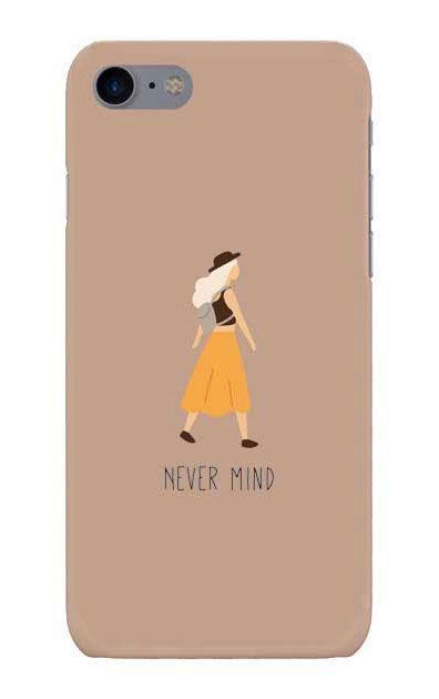 iPhone8のケース、Never Mind【スマホケース】