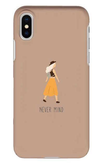 iPhoneXSのケース、Never Mind【スマホケース】